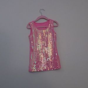 Justice Sequin Pink Shirt